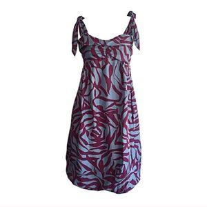 Marc Jacobs Silk 3D Rose Zebra Dress